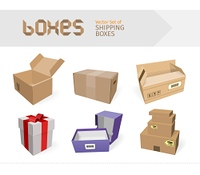 Set of gifts boxes design flat. Gift box present, ribbon and gift box vector, gift box isolated, gift box holiday christmas, gift box surprise for anniversary or birthday or xmas gift illustration