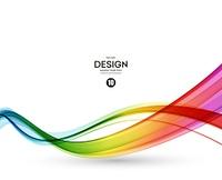 Abstract wave vector background, rainbow  waved lines for brochure, website, flyer design. Spectrum wave. Rainbow color