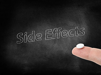 Side effects written on a blackboard