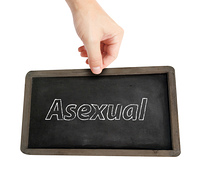 Asexual  written on a blackboard
