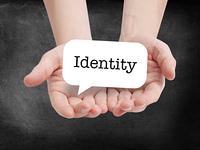 Identity written on a speechbubble
