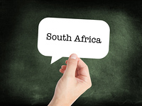 South Africa written on a speechbubble