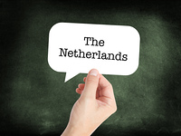 The Netherlands written on a speechbubble
