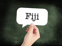 Fiji written on a speechbubble