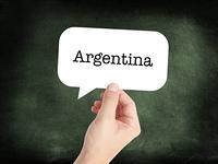 Argentina written on a speechbubble