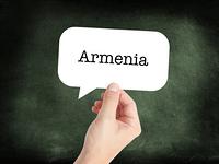 Armenia written on a speechbubble