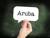 Aruba written on a speechbubble