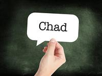 Chad written on a speechbubble