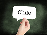 Chile written on a speechbubble