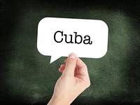 Cuba written on a speechbubble