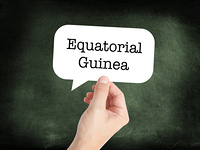Equatorial Guinea written on a speechbubble
