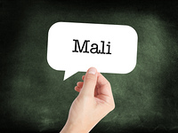 Mali written on a speechbubble