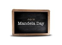 Mandela day on a blackboard