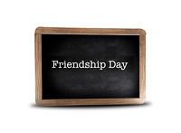 Friendship Day  on a blackboard