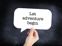 Let Adventure begin written on a speechbubble