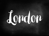 London written on a chalkboard