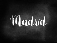 Madrid written on a chalkboard