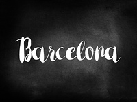 Barcelona written on a chalkboard