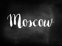 Moscow written on a chalkboard