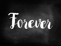 Forever written on a chalkboard