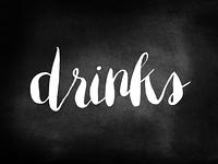 Drinks written on a blackboard