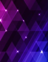Abstract vector geometric background with blue and violet triangles. Decorative shining background.