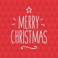 Merry Christmas card, handwriting title. Editable vector design.