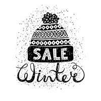 Winter Special banner or label with a knitted woolen cap. Business seasonal shopping concept sale.. Winter Special banner or label with a knitted woolen cap. Business seasonal shopping concept sale. Isolated vector illustration.