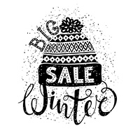 Winter Special banner or label with a knitted woolen cap. Business seasonal shopping concept big sale.. Winter Special banner or label with a knitted woolen cap. Business seasonal shopping concept big sale. Isolated vector illustration.