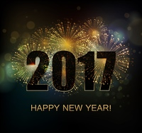 Vector Holiday Fireworks Background. Vector Holiday Fireworks Background. Happy New Year 2017