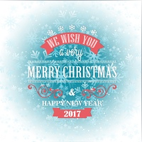 Typographic Retro Christmas Design. Typographic Retro Christmas Design on the winter snowflakes background