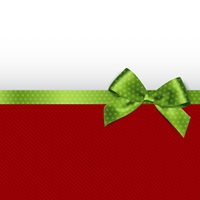 Holiday background with green bow. Holiday background with green polka dots bow