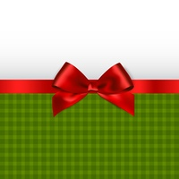 Holiday background with red bow. Christmas Holiday background with red satin bow.