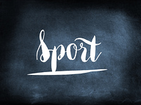 Sport handwritten on a chalkboard