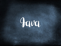 Java written on a blackboard