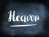 Heavon handwritten on a chalkboard