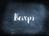 Devops written on a blackboard