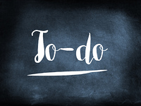 To-do handwritten on a chalkboard