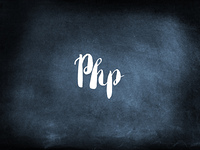 Php written on a blackboard
