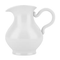 ceramic jug isolated on white background. 3d illustration