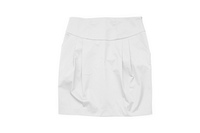 Woman skirt isolated on the white background