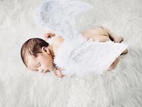 Cute little angel during a short nap