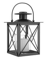 black candle holder isolated on white background. 3d illustration