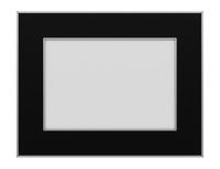 black photo frame isolated on white background. 3d illustration