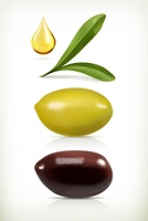 Olives, set of vector objects