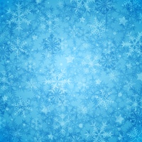 Blue abstract decorative Christmas background with snowflakes. Vector illustration.