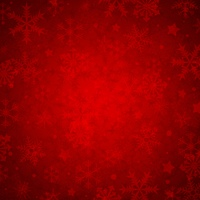 Red abstract decorative Christmas background with snowflakes. Vector illustration.