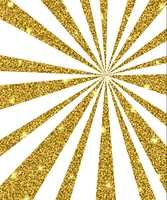 Abstract shining vector background with golden rays