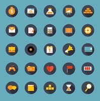 Set of Flat Icons Vector Illustration. EPS10. Set of Flat Icons Vector Illustration