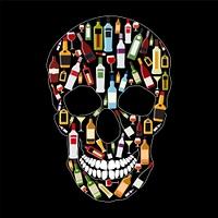 Skull Sign Vector on Dark Background Illustration EPS10. Skull Sign Vector Illustration